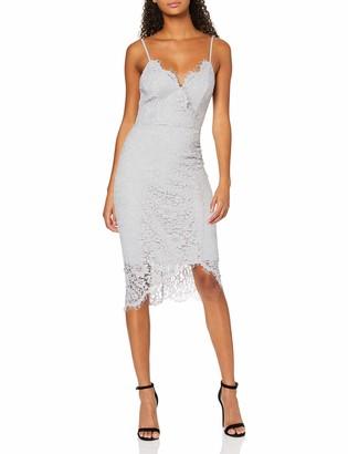 New Look Women's GO OCC LACE WRP ASYM MIDI Dress