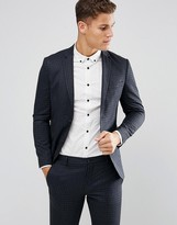 Jack and Jones Skinny Suit Jacket In Brushed Check