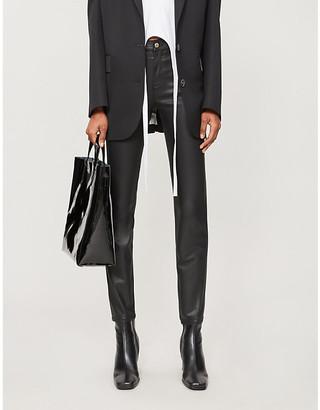 Emporio Armani J20 coated skinny mid-rise jeans