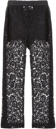 Valentino Sheer Panel Wide-Leg Pants