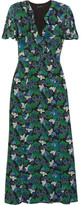 Saloni Josee Printed Silk-crepe Maxi Dress - Green