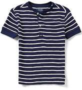 Ralph Lauren Big Boys 8-20 Striped Waffle-Knit Henley Tee