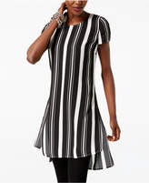 INC International Concepts Striped High-Low Tunic, Created for Macy's