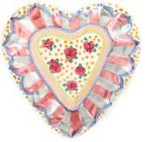 Mackenzie Childs MacKenzie-Childs Cabbage Rose Heart Plate