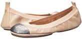 Yosi Samra Samantha Soft Leather Fold Up Flat w/ Contrast Cap Toe