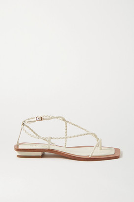 Cult Gaia Juno Braided Leather Sandals - Ivory