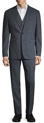 Burberry 3-Piece Standard-Fit Linen Wool-Blend Suit