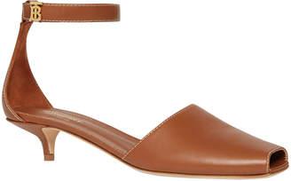 Burberry Stadling Kitten-Heel Sandals
