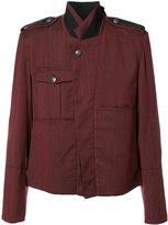 Ann Demeulemeester colour block blazer - men - Cotton/Wool Felt/Nylon - M