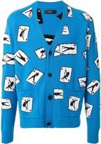 Amiri pole-dance knit cardigan -Blue
