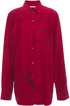 Equipment Floral-print Silk-satin Crepe Shirt