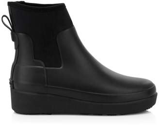 Hunter Refined Creeper Neo Chelsea Wedge Ankle Boots