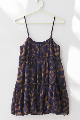Urban Outfitters Rory Printed Chiffon Mini Dress
