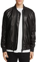 Helmut Lang Lamb Leather Bomber Jacket