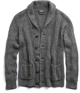 Todd Snyder Linen Shawl Cardigan in Grey