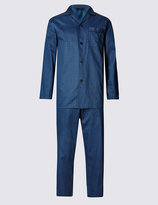 Marks And Spencer Pure Cotton Weave Print Pyjamas
