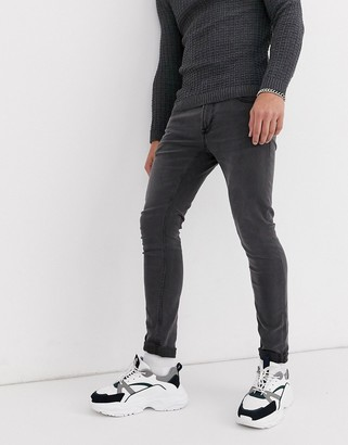 ONLY & SONS super skinny jeans in grey wash