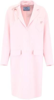 Prada Button-Closure Overcoat