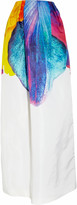 Jil Sander Floral-print silk-twill skirt