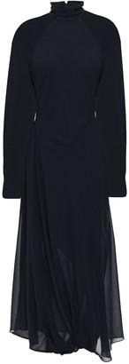 Victoria Beckham Open-back Georgette Turtleneck Midi Dress