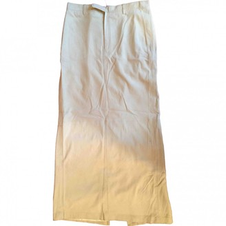 Ralph Lauren Beige Leather Skirt for Women