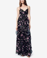 Fame and Partners Floral Ruffle Maxi Gown