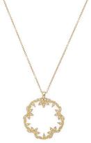 Mizuki 14K Gold Open Petal Pendant Necklace