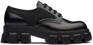 Prada Monolith chunky sole shoes