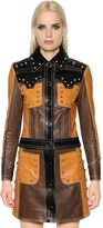 Drome Cropped & Studded Leather Biker Jacket