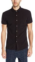 Scotch & Soda Men's Shortsleeve Jersey Shirt in Pique Structure