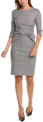 Sara Campbell Buckle Linen-Blend Sheath Dress