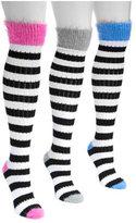 Muk Luks Women's Pointelle Stripe Knee High Socks