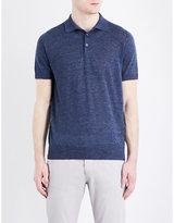 Brunello Cucinelli Regular-fit Linen-blend Polo Shirt
