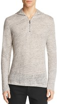 John Varvatos Collection Linen Mélange Half-Zip Hoodie Sweater