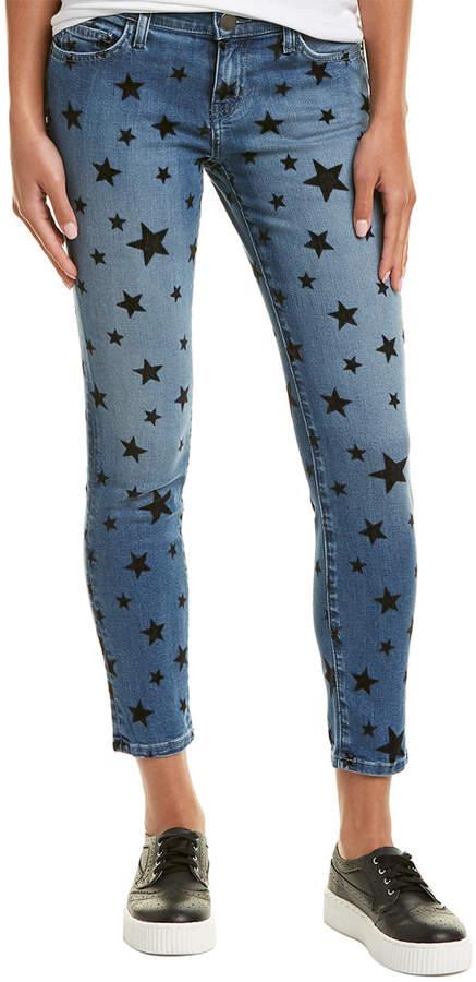 Current/Elliott The Stiletto Flocked Star Skinny Leg