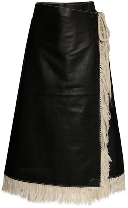 Stand Studio Eve leather wrap skirt