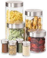 Oggi OggiTM 8-Piece Round Glass Canister Set with Spice Jars