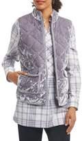 Foxcroft Full-Zip Velvet Vest