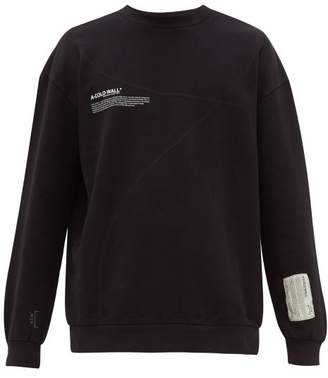 A-Cold-Wall* A Cold Wall* Mission Statement Print Cotton Sweatshirt - Mens - Black
