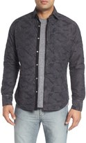 Stone Rose Quilted Camo Shirt Jacket
