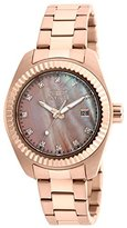 Invicta Women's Quartz Watch with Rose Gold Dial Analogue Display and Rose Gold Stainless Steel Bracelet 20353
