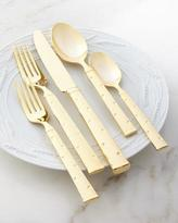 Kate Spade 5-Piece Larabee Gold-Dot Flatware Place Setting