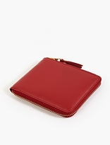 Comme Des Garcons Wallet Red Classic Leather Zip Wallet