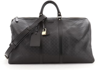 Gucci Bright Carry On Duffle Bag Diamante Leather Large