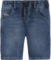 Diesel Stretch cotton-denim shorts 6-16 years