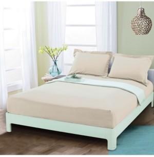 Elegant Comfort Silky Soft Single Fitted Sheet King Cream Bedding