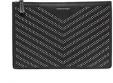 Mackage Port-St Large Studded Leather Pouch In Black