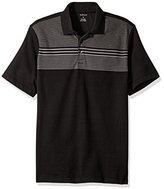 Van Heusen Men's Engineered Stripe Short Sleeve Polo