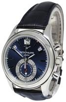 Patek Philippe Annual Calendar Chronograph 5960P Platinum Blue Dial 40.5mm Mens Watch