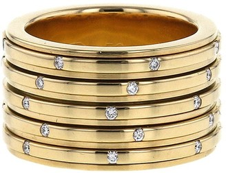 Piaget 2004 pre-owned 18kt yellow gold diamond pre-owned Possession large ring